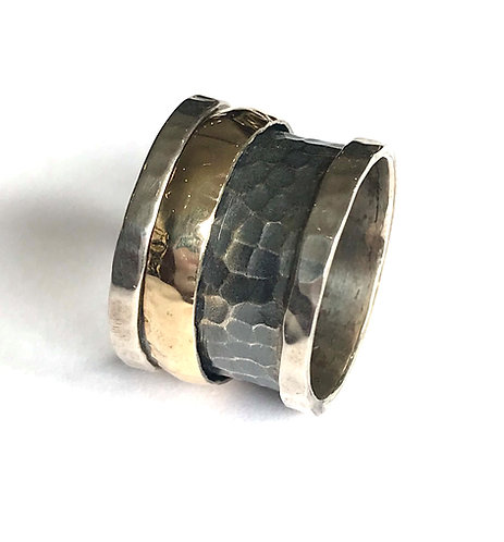 Yaron Morhaim Spinner Silver & Rolled Gold Ring