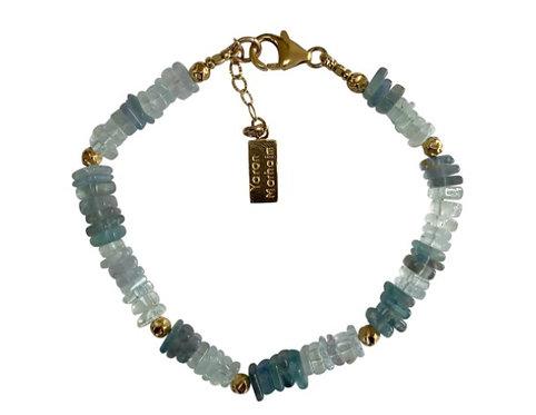 Yaron Morhaim Blue Apatite & Aqua Bracelet