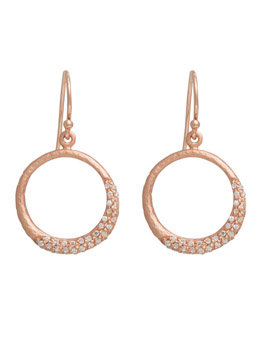 Silver Rose Gold Plated Drop Earrings