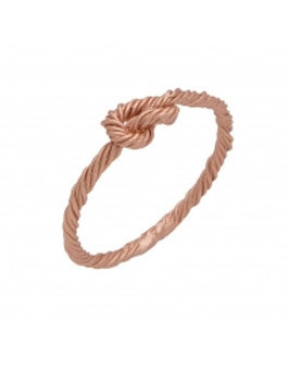 Silver Rose Gold Plated Knot Ring