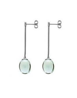 Jade Drop Crystal Earrings