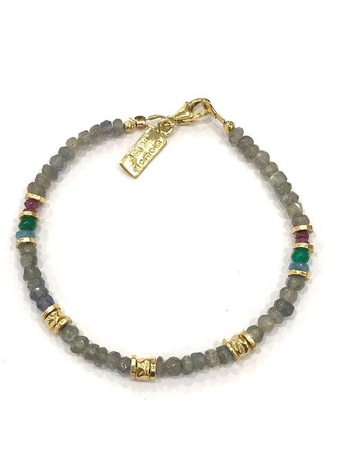 Yaron Morhaim Blue Multi Bead Skinny Bracelet