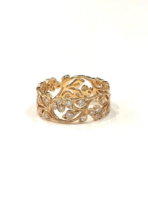 Galio 18ct Rose Gold & Diamond Ring