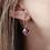 Thumbnail: Geometric Amethyst Drop Earrings