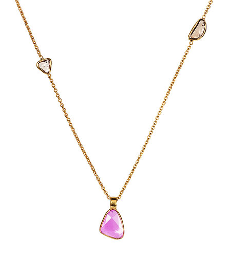 Sapphire and Diamond Slice Necklace