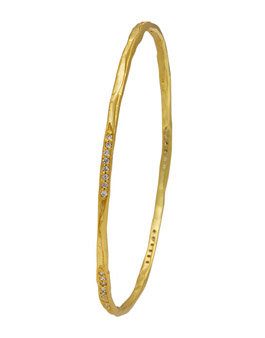 Silver Gold Plated Slim Bangle