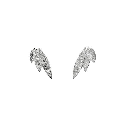 Icarus Stud Earrings Silver