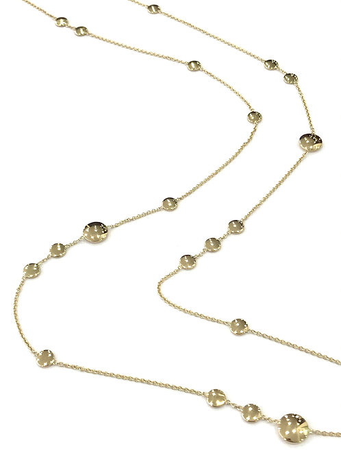 Galio 14ct Yellow Gold Disc Necklace