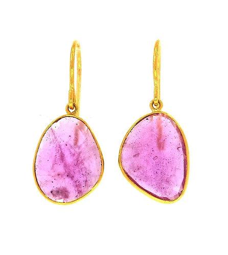 Ruby Slice Drop Earrings