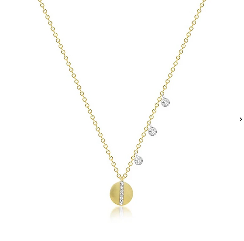 Delicate Diamond Disc Necklace