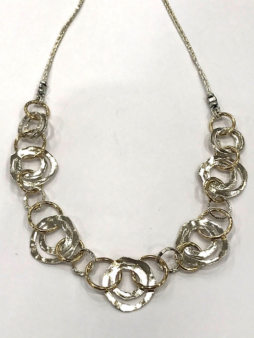 Yaron Morhaim Rolled Gold Circles Necklace