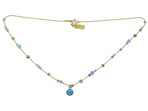 Yaron Morhaim Rolled Gold & Opal Necklace