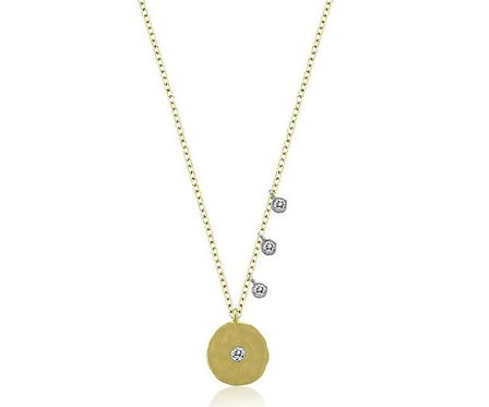 Meira T 14ct Coin & Diamond Necklace