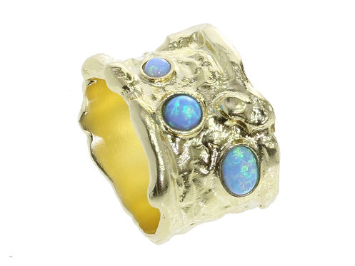 Yaron Morhaim Rolled Gold & Opal Ring