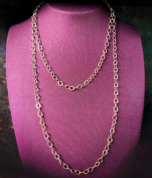 Long Rose Gold Chain
