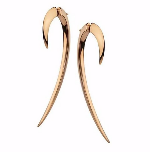Rose Gold Vermeil Large Hook Earrings