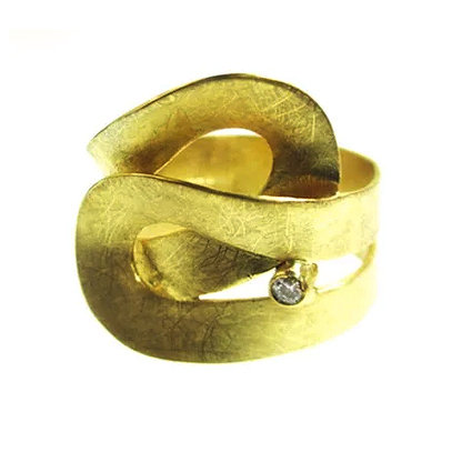 Origammi 18ct Gold Organic Crossover Ring