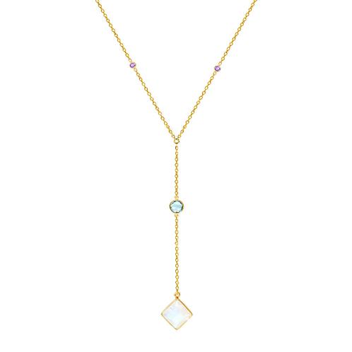 AUREN Equinox Gemstone Lariat Necklace AUAN004GC1