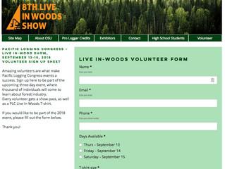 Volunteers Needed for Live In-Woods Show