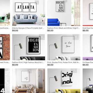 Style your Home with this Collection of Must Have Affordable Printable Wall Art