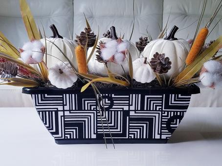 DIY Dollar Store Fall Pumpkin Floral Decor
