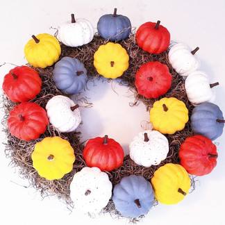 Easy DIY Dollar Store Fall Wreath Target Dupe