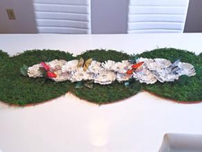 DIY Dollar Store Green Moss Table Runner
