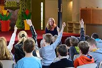 Voorlezen op basisschool door Wendy Legierse-Louwers uit haar kinderboeken Renske met Wiele I & II, en alles mogen vragen