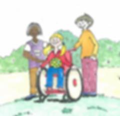 kinderboek over een meisje in een rolstoel en vriendschap