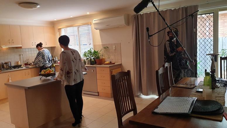 Jett behind the scenes
