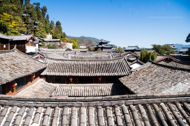 vue sur les toits lijiang chine nov 2015