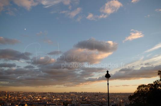 Coucher de soleil sur Paris, Montmartre.