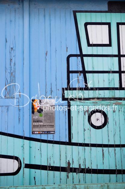 porte de garage aux couleurs de la mer.j