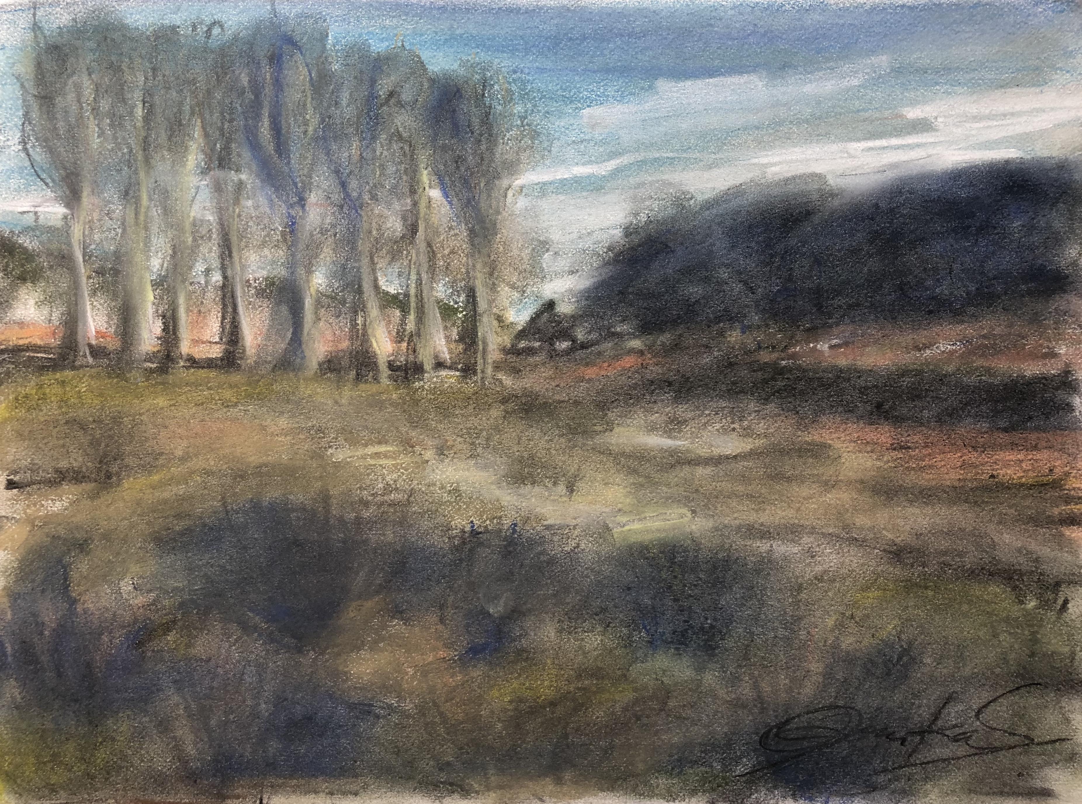 the poplars I