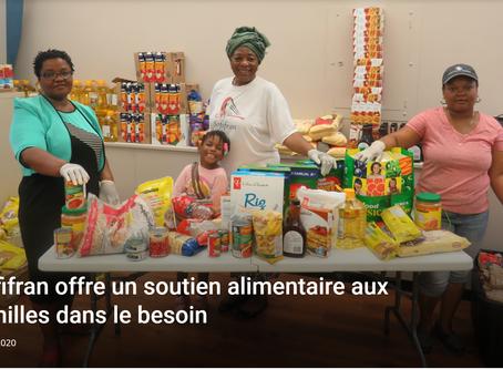 Sofifran offre un soutient alimentaire aux familles dans le besoin