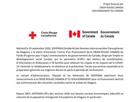 Solidarité des femmes et des familles interconnectés francophone du Niagara