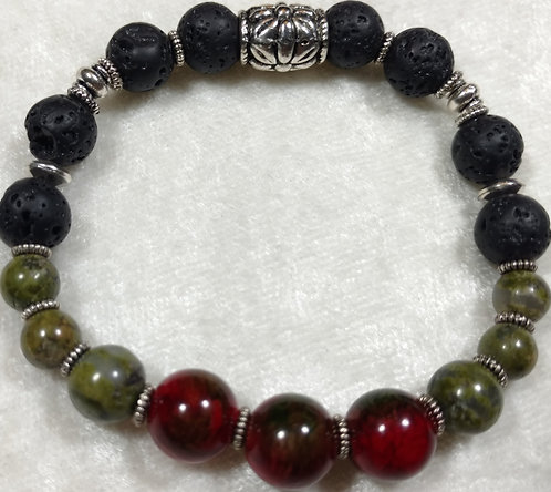 Red-Green & Unikite Jasper Scented