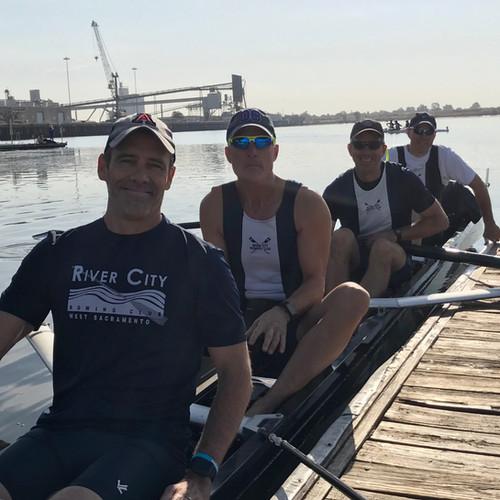 Advanced Mens Team heading out for Head of Port Regatta