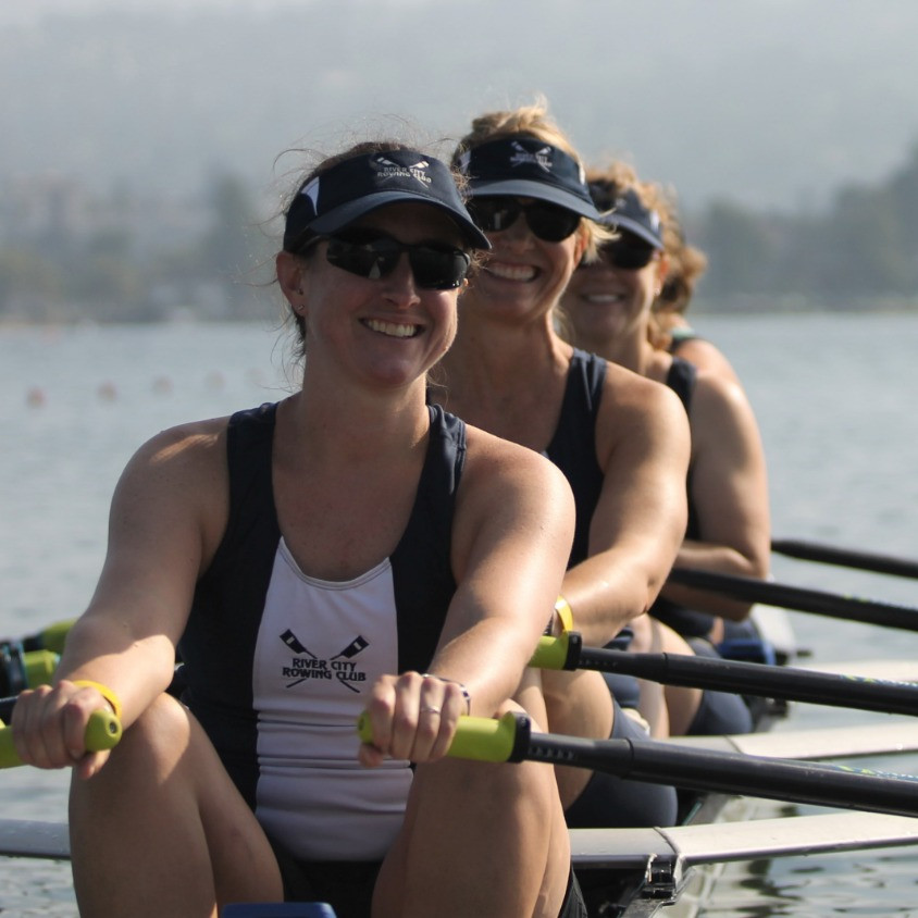 Open Advanced Womens Team enjoying competition at USRowing Masters Champs