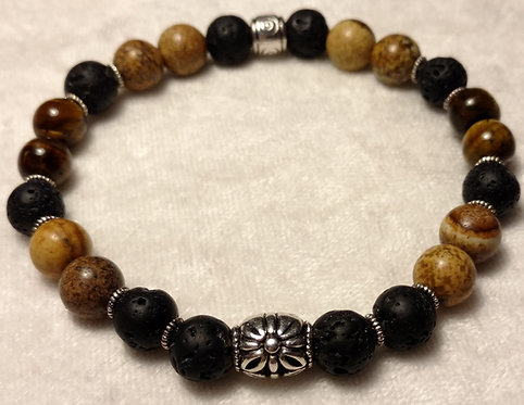 Picture Jasper & Tiger Eye Scented