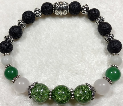 Green Crackled Agate & Jade Unscented