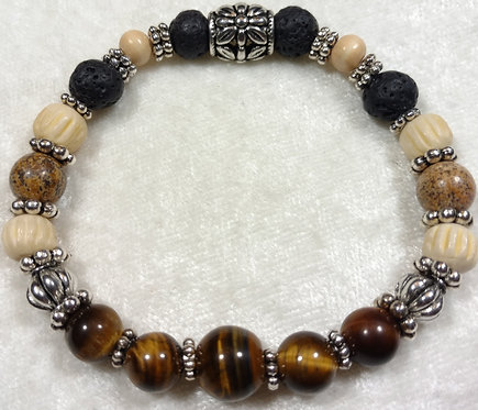 Tiger Eye & Picture Jasper Scented