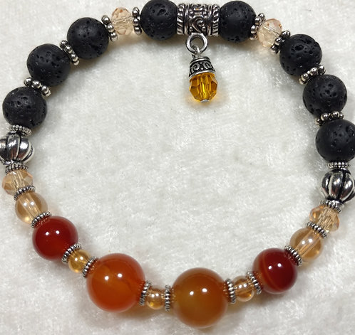 Carnelian with Swarovski Crystal Charm Unscented