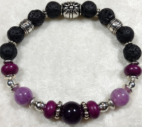 Amethyst & Purple Howlite Unscented