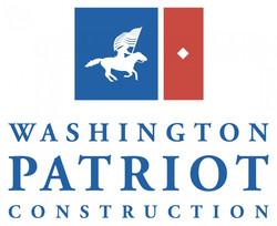 Washington Patriot Constsruction logo - stacked