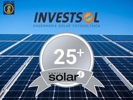 A InvestSol é a primeira empresa de Adamantina-SP a conseguir o selo PRATA do PORTAL SOLAR.