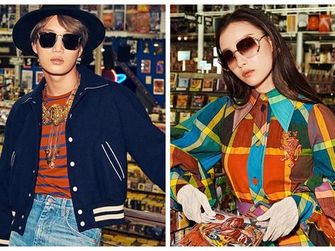 倪妮、金鐘仁演繹Gucci 2020春夏眼鏡 致敬美國八0年代個性精神