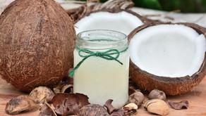Koktajl z mleka kokosowego i truskawek