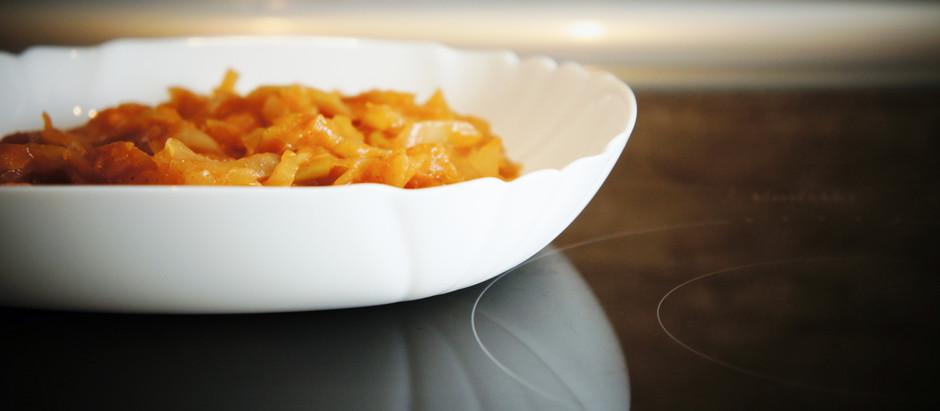 Kapusta gotowana z pomidorami