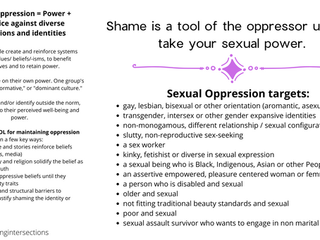 Sexual Oppression and Assault Survivors: you're not broken, the system is